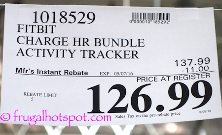 Fitbit Charge HR Bundle Activity Tracker Costco Price | Frugal Hotspot
