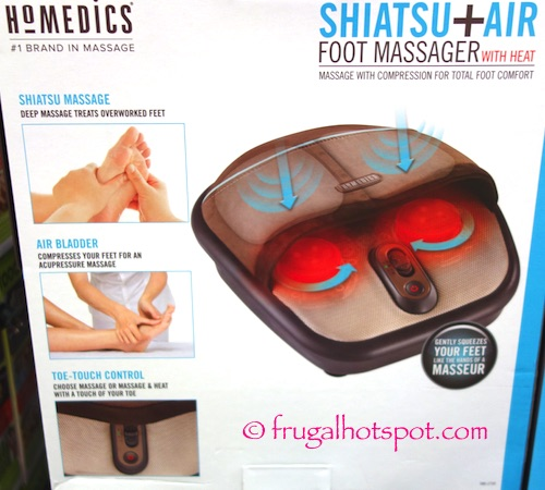 Homedics Shiatsu + Air Foot Massager with Heat Costco | Frugal Hotspot