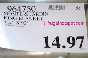 Monte & Jardin King Size Blanket Costco Price | Frugal Hotspot