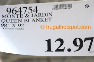 Monte & Jardin Queen Size Blanket Costco Price | Frugal Hotspot