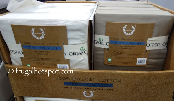 Laurelcrest Organic Cotton Queen Sheet Set Costco | Frugal Hotspot