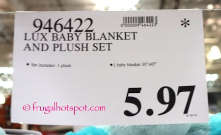 Lux Blankets & Beyond Blanket & Puppet 2-Piece Gift Set Costco Price | Frugal Hotspot