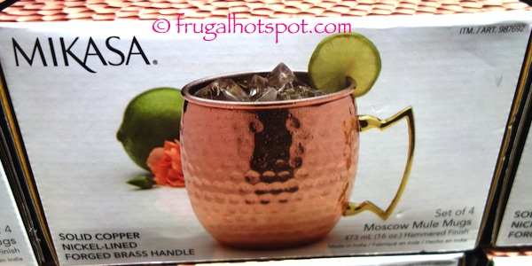 Mikasa Moscow Mule Mugs 4-Pack Costco | Frugal Hotspot
