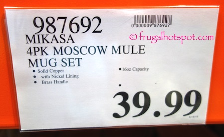 Mikasa Moscow Mule Mugs 4-Pack Costco Price | Frugal Hotspot
