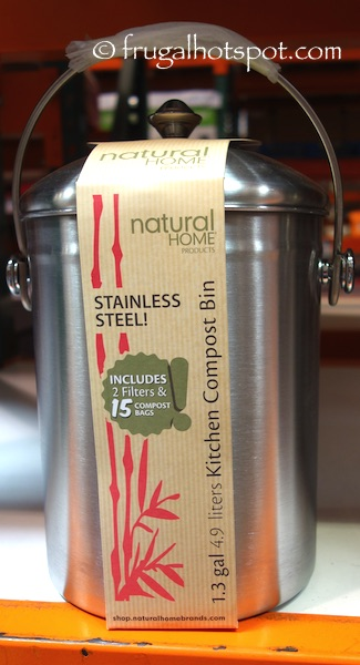 Natural Home Stainless Steel Kitchen Compost Bin Costco | Frugal Hotspot