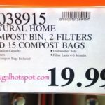 Natural Home Stainless Steel Kitchen Compost Bin Costco Price | Frugal Hotspot