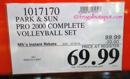 Park & Sun Pro 2000 Portable Volleyball System Costco Price | Frugal Hotspot