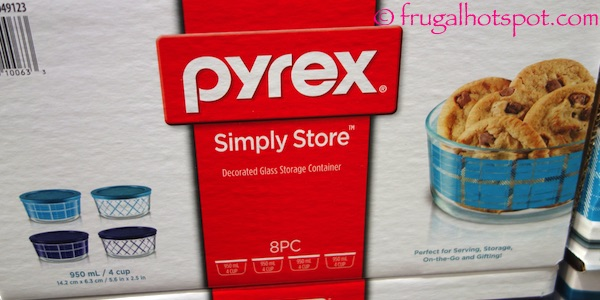 Pyrex Simply Store Decorated Glass Storage Container 8-Piece Costco | Frugal Hotspot