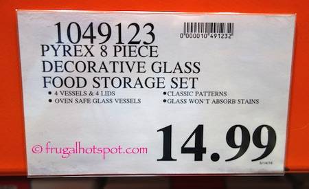 Pyrex Simply Store Decorated Glass Storage Container 8-Piece Costco Price | Frugal Hotspot