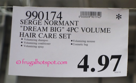 "Serge Normant ""Dream Big"" 4-Pc Volume Hair Care Set Costco Price 