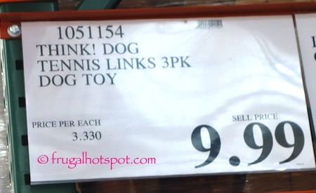 Think! Dog Tennis Links 3-Pack Dog Toys Costco Price | Frugal Hotspot