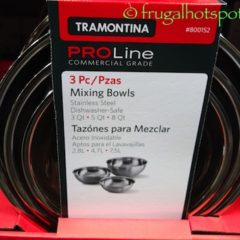 Costco Sale: Tramontina Proline Stainless Steel 3-Pk Mixing Bowls $9.99