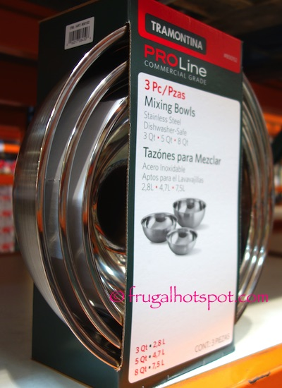 Tramontina Proline Stainless Steel 3-Pack Mixing Bowls Costco | Frugal Hotspot
