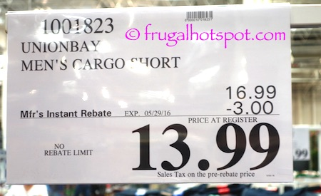 Unionbay Men's Cargo Shorts Costco Price | Frugal Hotspot