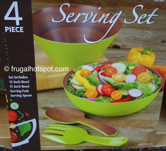 First Design Global Melamine 4-Pc Bowl Serving Set Costco | Frugal Hotspot