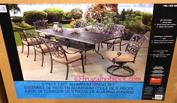 9 Piece Cast Aluminum Dining Set Costco Frugal Hotspot