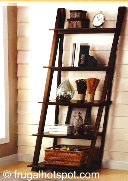 Bayside Furnishings Ladder Bookcase Costco| Frugal Hotspot