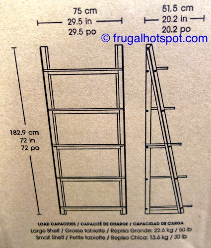 Costco Furniture Coupons: Costco Sale: Bayside Furnishings Ladder Bookcase $99.99