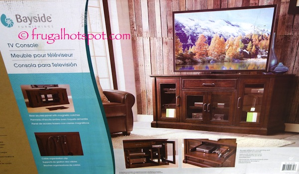 "Bayside Furnishings Brockport 65"" TV Console Costco 