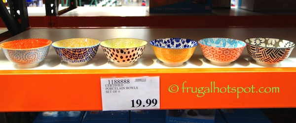 Certified All Purpose Porcelain Bowls Set of 6 Costco | Frugal Hotspot