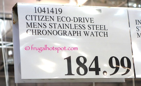 Citizen Eco-Drive Mens Stainless Steel Chronograph Watch Costco Price | Frugal Hotspot