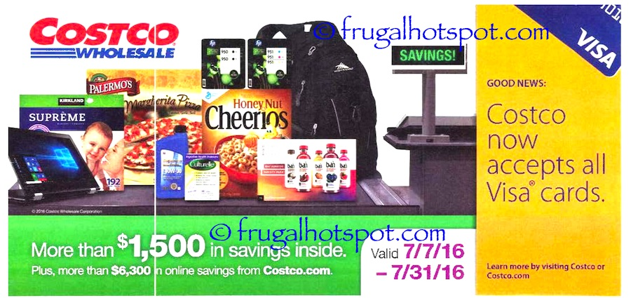 Costco Coupon Book: July 7, 2016 - July 31, 2016. Prices Listed. Cover | Frugal Hotspot