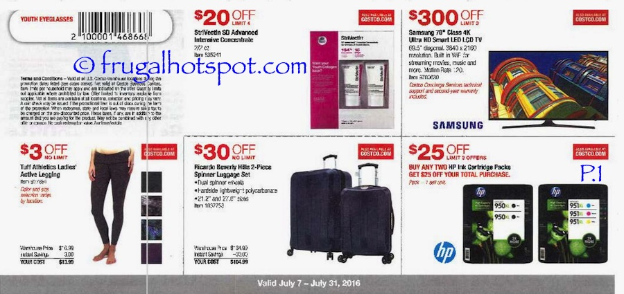Costco Coupon Book: July 7, 2016 - July 31, 2016. Prices Listed. Page | Frugal Hotspot
