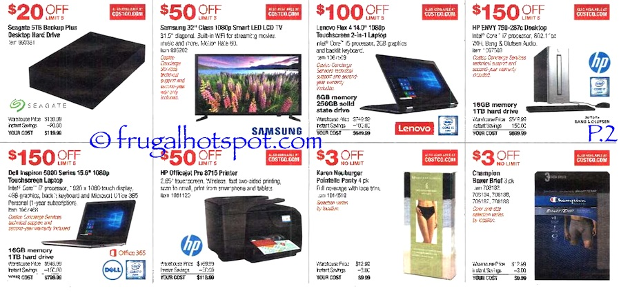 Costco Coupon Book: July 7, 2016 - July 31, 2016. Prices Listed. Page 2 | Frugal Hotspot