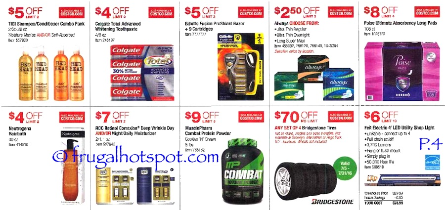Costco Coupon Book: July 7, 2016 - July 31, 2016. Prices Listed. Page 4 | Frugal Hotspot