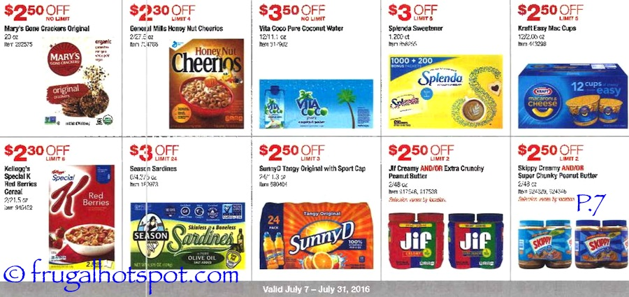 Costco Coupon Book: July 7, 2016 - July 31, 2016. Prices Listed. Page 7 | Frugal Hotspot