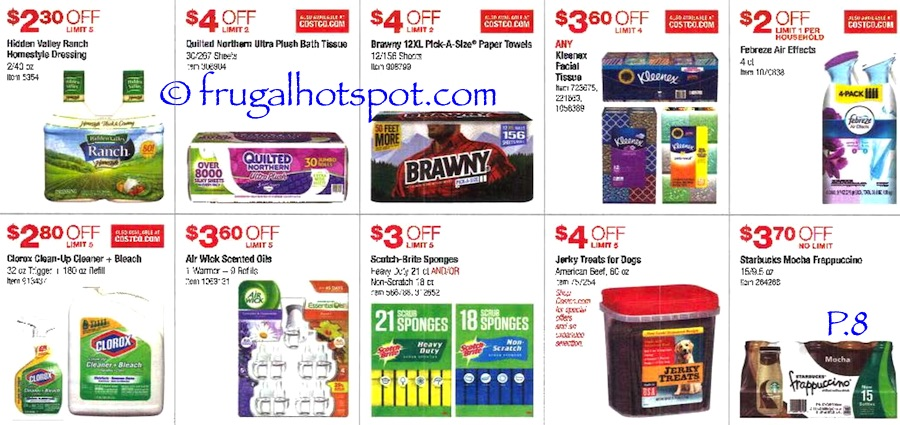 Costco Coupon Book: July 7, 2016 - July 31, 2016. Prices Listed. Page 8 | Frugal Hotspot