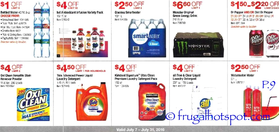 Costco Coupon Book: July 7, 2016 - July 31, 2016. Prices Listed. Page 9 | Frugal Hotspot