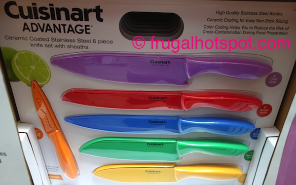 Cuisinart Advantage 6-Piece Ceramic Coated Stainless Steel Knives Set Costco | Frugal Hotspot