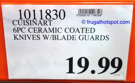 Cuisinart Advantage 6-Piece Ceramic Coated Stainless Steel Knives Set Costco Price | Frugal Hotspot