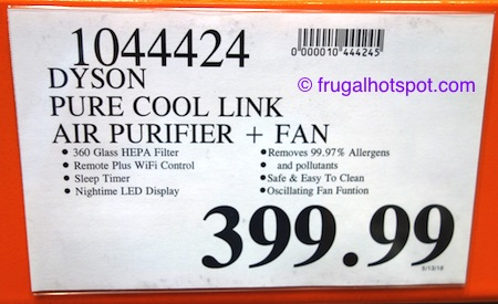 Dyson Pure Cool Link Air Purifier Fan Costco Price | Frugal Hotspot