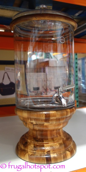 Fifth Avenue Crystal Glass Beverage Dispenser with Acacia Wood Base Costco | Frugal Hotspot
