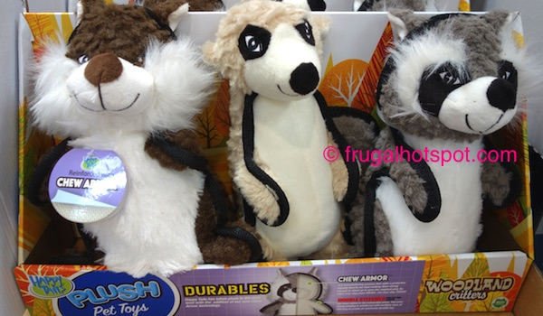 Costco: Happy Tails Woodland Critters Pet Toys 3-Pk $9.99