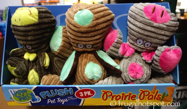 Happy Tails Prairie Pals Plush Pet Toys 3-Pack Costco | Frugal Hotspot
