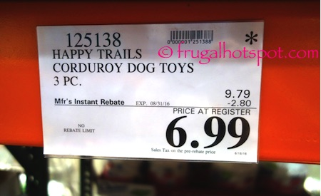 Happy Tails Prairie Pals Plush Pet Toys 3-Pack Costco Price | Frugal Hotspot