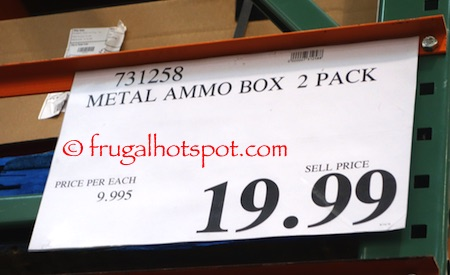 Heritage Security Products Metal Ammo Box 2-Pack Costco Price | Frugal Hotspot