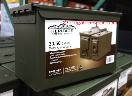 Costco Heritage Security Products Metal Ammo Box 2 Pk 1999 Frugal Hotspot