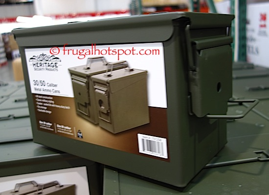 Heritage Security Products Metal Ammo Box 2-Pack Costco | Frugal Hotspot