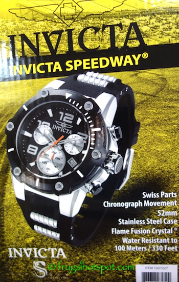 Invicta Speedway Stainless Steel Case Mens Watch Costco | Frugal Hotspot