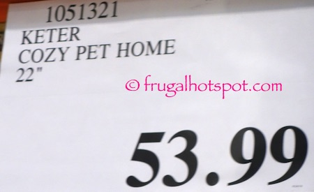 Keter Cozy Pet Home Costco Price | Frugal Hotspot