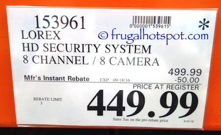 Lorex by Flir 8-Channel Surveillance System Costco Price | Frugal Hotspot