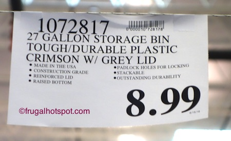 27-Gallon Professional Box Plastic Storage Container Costco Price | Frugal Hotspot