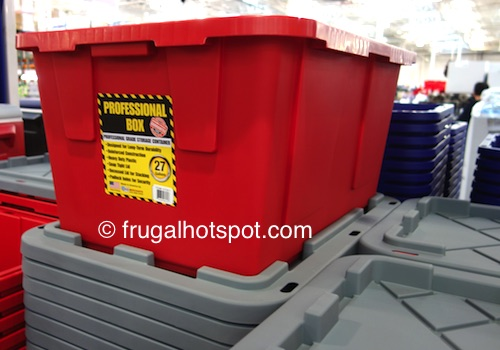 27-Gallon Professional Box Plastic Storage Container Costco | Frugal Hotspot