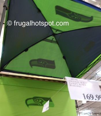 Coleman 10' x 10' Deluxe Dome Canopy w/Wall (Seattle Seahawks) Costco Price | Frugal Hotspot