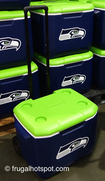 Coleman 60 Quart Officially Licensed Wheeled Cooler (Seattle Seahawks) Costco | Frugal Hotspot