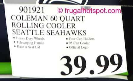 Coleman 60 Quart Officially Licensed Wheeled Cooler (Seattle Seahawks) Costco Price | Frugal Hotspot